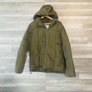 Goodfellow and Co Puffer Jacket Green w/Hood